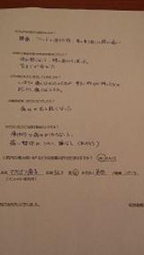 マクレナン恵子さま半田市52歳女性(腰痛)直筆メッセージ