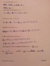 I・Kさん34歳女性東浦町主婦(腰痛・頭痛など)直筆メッセージ